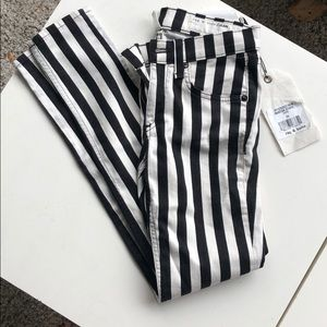 NWT Striped Rare Rag and Bone Capris
